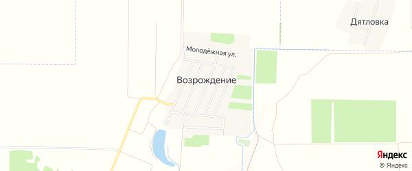 Карта села Возрождения в Крыму с улицами и номерами домов
