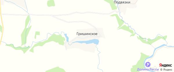 Карта деревни Гришинское в Калужской области с улицами и номерами домов