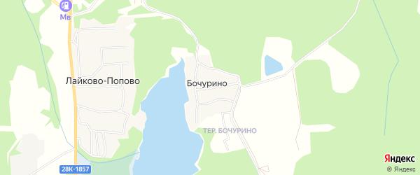 Карта деревни Бочурино города Удомли в Тверской области с улицами и номерами домов