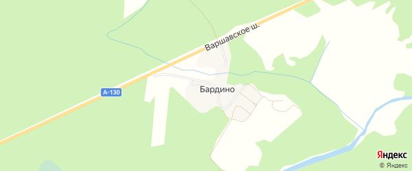 Карта деревни Бардино в Калужской области с улицами и номерами домов