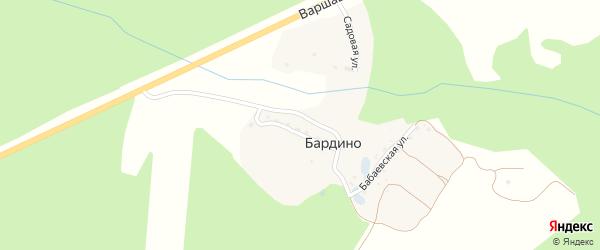 Бабаевская улица на карте деревни Бардино Калужской области с номерами домов
