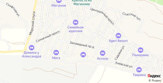 Абрикосовая улица в Судаке с номерами домов на карте. Спутник и схема онлайн