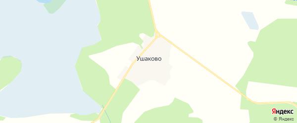 Карта деревни Ушаково в Тверской области с улицами и номерами домов