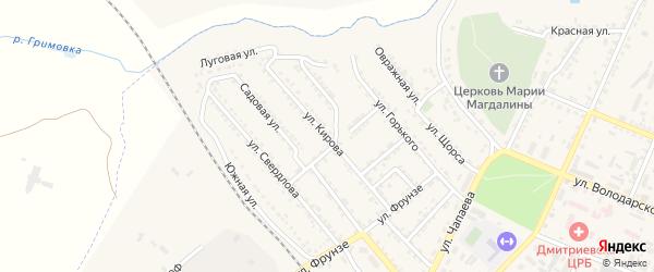 Улица Кирова на карте Дмитриева с номерами домов