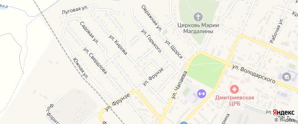 Зеленый переулок на карте Дмитриева с номерами домов
