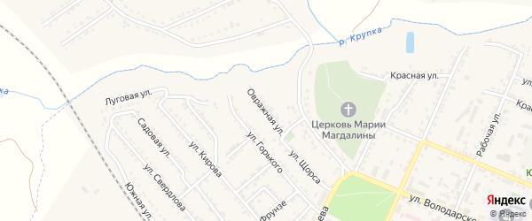 Овражная улица на карте Дмитриева с номерами домов