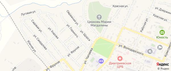 Улица Щорса на карте Дмитриева с номерами домов