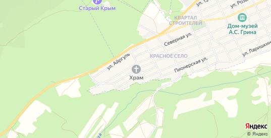 Карта села Красное в Старом Крыме с улицами, домами и почтовыми отделениями со спутника онлайн