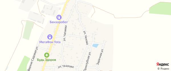 Улица Чехова на карте Приветного села Крыма с номерами домов