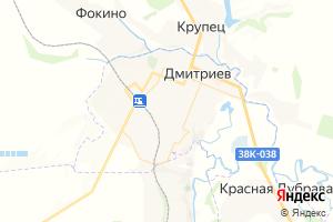 Карта г. Дмитриев Курская область