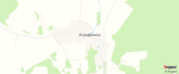 Карта деревни Аграфенино города Удомли в Тверской области с улицами и номерами домов