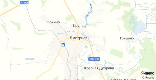 Карта Дмитриева с улицами и домами подробная. Показать со спутника номера домов онлайн