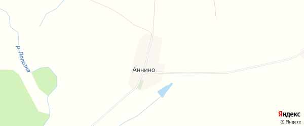 Карта села Аннино в Калужской области с улицами и номерами домов