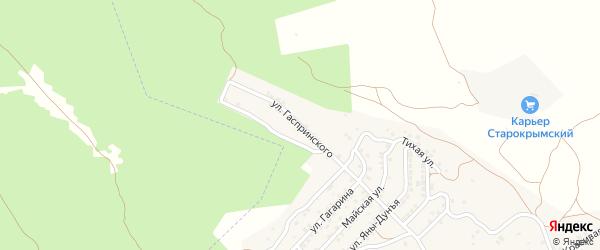 Улица Гаспринского на карте Старого Крыма с номерами домов