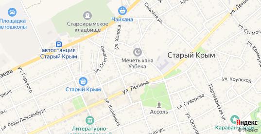 Улица Победы в Старом Крыме с номерами домов на карте. Спутник и схема онлайн