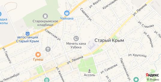 Улица Халтурина в Старом Крыме с номерами домов на карте. Спутник и схема онлайн