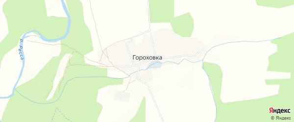 Карта деревни Гороховка в Калужской области с улицами и номерами домов