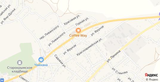 Улица Фрунзе в Старом Крыме с номерами домов на карте. Спутник и схема онлайн
