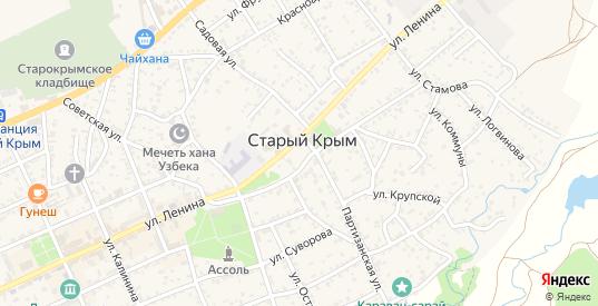 Улица Красная площадь в Старом Крыме с номерами домов на карте. Спутник и схема онлайн