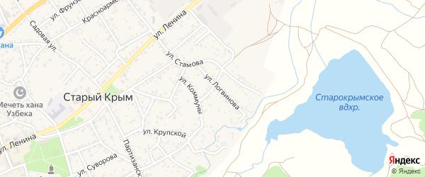 Переулок Логвинова на карте Старого Крыма с номерами домов
