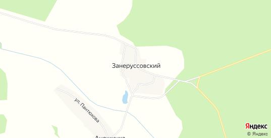 Карта поселка Занеруссовский в Орловской области с улицами, домами и почтовыми отделениями со спутника онлайн