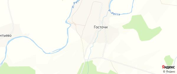 Карта деревни Госточи в Калужской области с улицами и номерами домов