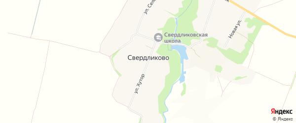 Карта села Свердликово в Курской области с улицами и номерами домов