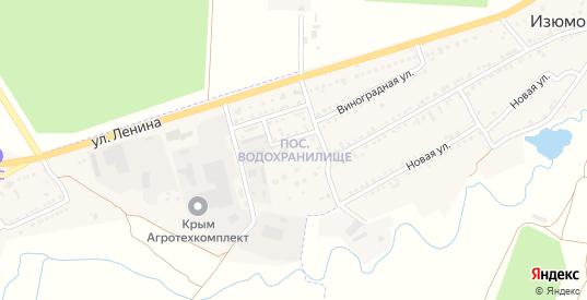 Поселок Водохранилище в Старом Крыме с номерами домов на карте. Спутник и схема онлайн