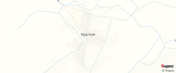Карта деревни Круглого в Орловской области с улицами и номерами домов