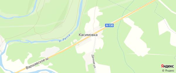 Карта деревни Касимовка в Калужской области с улицами и номерами домов