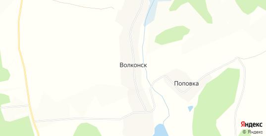 Карта села Волконск в Орловской области с улицами, домами и почтовыми отделениями со спутника онлайн