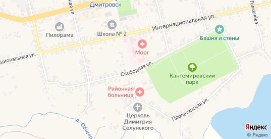 Свободная улица в Дмитровске с номерами домов на карте. Спутник и схема онлайн
