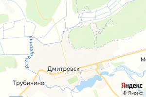 Карта г. Дмитровск Орловская область