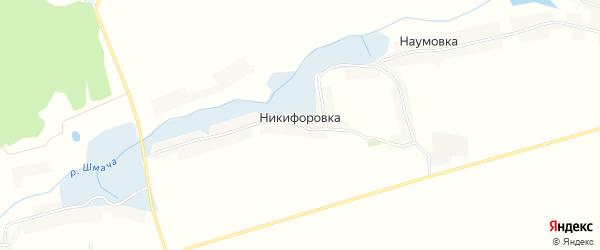 Карта деревни Никифоровки в Курской области с улицами и номерами домов