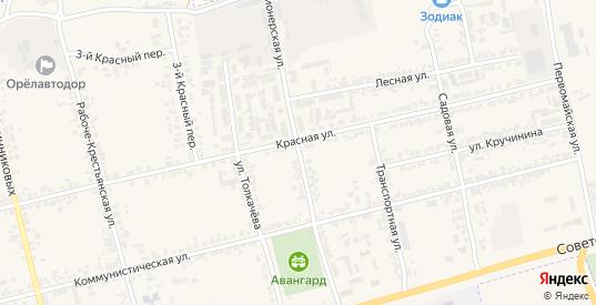 Пионерская улица в Дмитровске с номерами домов на карте. Спутник и схема онлайн