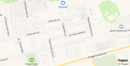 Садовая улица в Дмитровске с номерами домов на карте. Спутник и схема онлайн