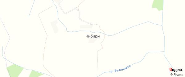 Карта деревни Чибири в Калужской области с улицами и номерами домов