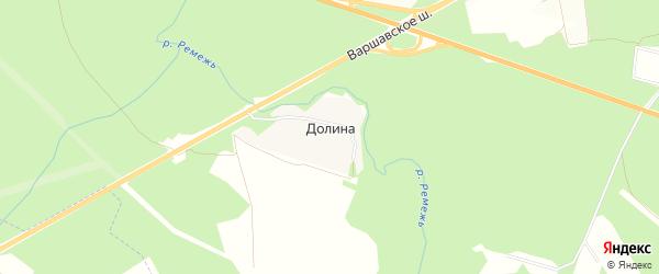 Карта деревни Долины в Калужской области с улицами и номерами домов