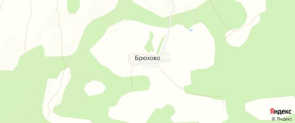 Карта деревни Брюхово в Тверской области с улицами и номерами домов