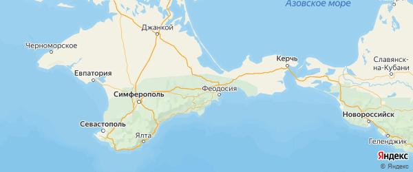 Карта Кировского района Республики Крыма с городами и населенными пунктами