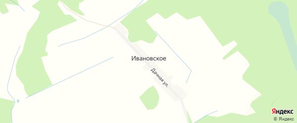 Карта деревни Ивановского в Смоленской области с улицами и номерами домов