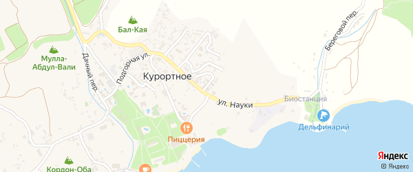 Улица Вяземского на карте поселка Курортного с номерами домов