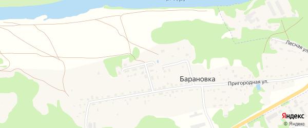 Набережная улица на карте деревни Барановки Калужской области с номерами домов