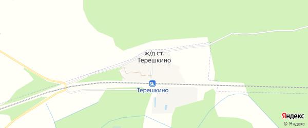 Карта станции Терешкино в Тверской области с улицами и номерами домов
