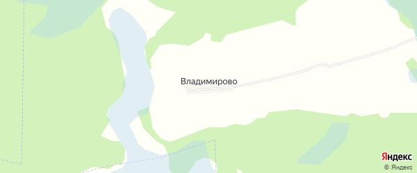 Карта деревни Владимирово в Новгородской области с улицами и номерами домов