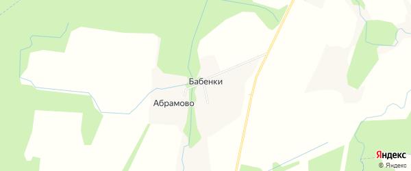 Карта деревни Бабенки в Калужской области с улицами и номерами домов