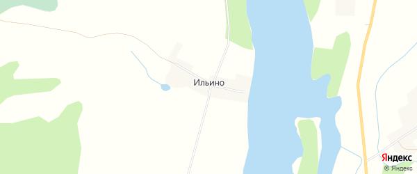 Карта деревни Ильина города Удомли в Тверской области с улицами и номерами домов