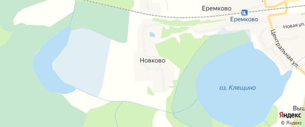 Карта деревни Новково города Удомли в Тверской области с улицами и номерами домов