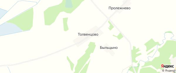 Карта деревни Толвенцово в Тверской области с улицами и номерами домов