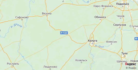 Карта Юхновского района Калужской области с городами и населенными пунктами